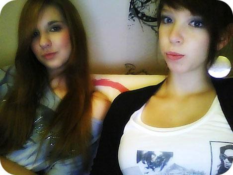 Madeleine und ich mit süßen 16 Jahren in schönster Webcam Qualität und viiiiiel Weichzeichner.