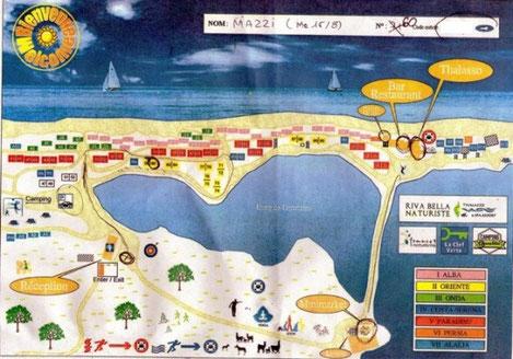 Mappa del villaggio Riva Bella