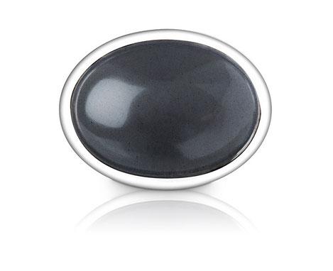 Hämatit Manschettenknopf aus Sterling Silber
