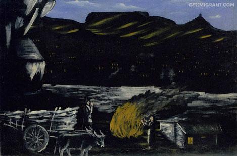 В первые с 1919 года «Арсенальная гора ночью» Нико Пиросмани выставлена в национальном галерее Грузии
