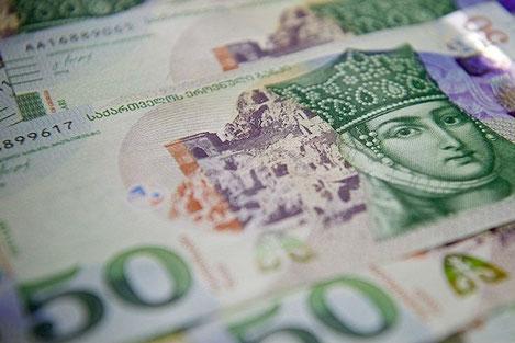 Грузинская 50 ларовая банкнота представлена на «Оскар Купюр»
