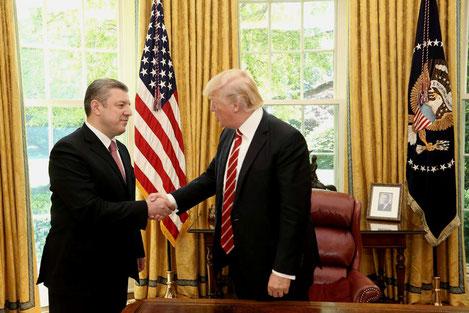 Дональд Трамп принял премьера Грузии