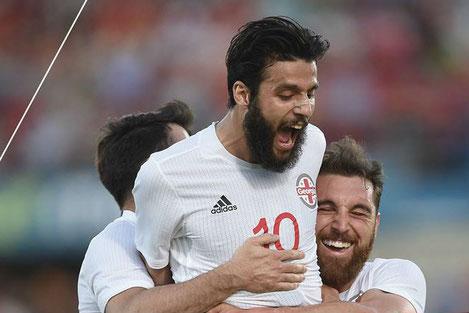 Сборная Грузии по футболу сенсационно обыграла Испанию