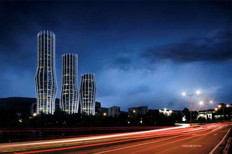 В Тбилиси строится 40 этажная башня