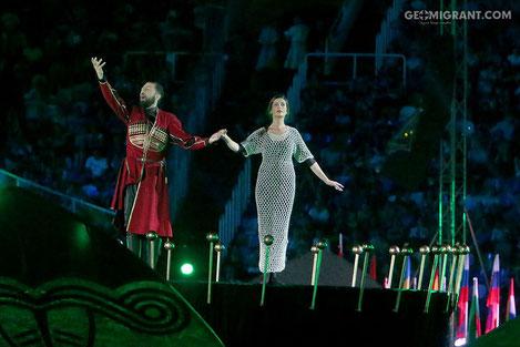 Европейский юношеский олимпийский фестиваль открылся в Тбилиси