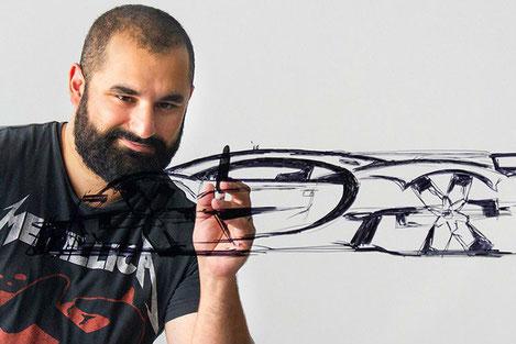 Молодой Грузин разработал дизайн самого дорогого серийного гиперкара в мире «Bugatti Chiron»