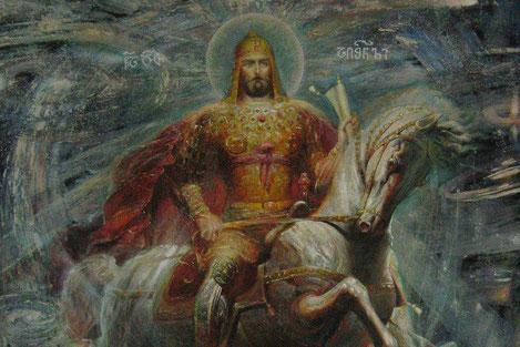 Как грузински Царь, Давид Агмашенебели освободил армян