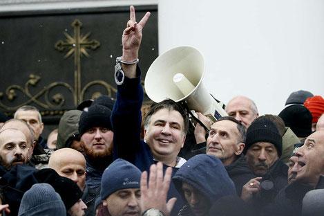 Михаил Саакашвили на свободе