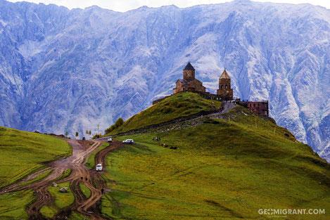 Грузинскую пару обвенчали на высоте 4000 метров над уровнем моря