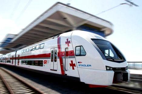 Между Тбилиси и Батуми начали курсировать двухэтажные поезда «Stadler»