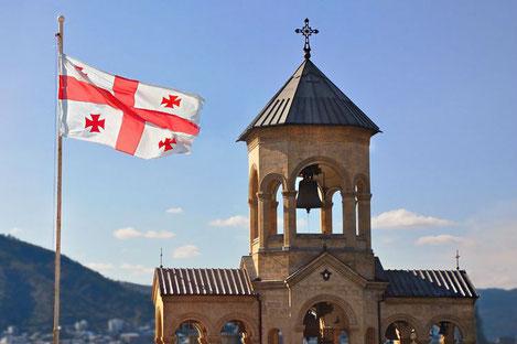 В цвета государственного флага Грузии будут подсвечены здания и сооружения более чем в 30 странах мира