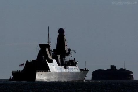 В Черное море вошел ракетный эсминец Британского флота