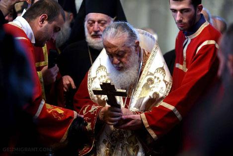Патриарх Илия Второй призвал уехавших Грузин вернуться на Родину
