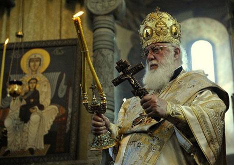 Патриарх всея Грузии Илия Второй направляется в Россию