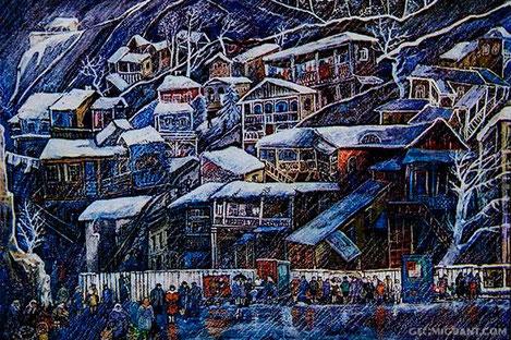 В новогоднюю ночь Тбилиси накроет снегом
