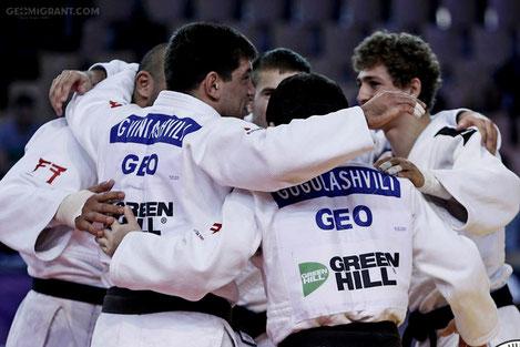 Сборная Грузии по дзюдо попала в тройку лучших команд мира