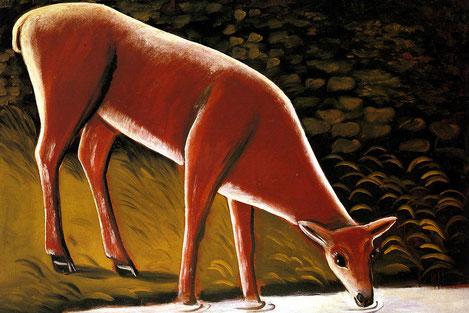 Картина Нико Пиросмани «Косуля у ручья» вернется на родину