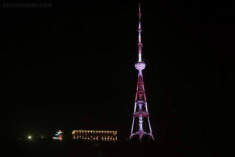 Тбилисская обновленная телевышка торжественно зажжена