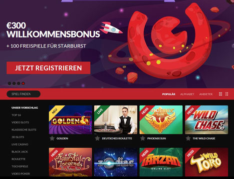 Guts.com Casino Lobby
