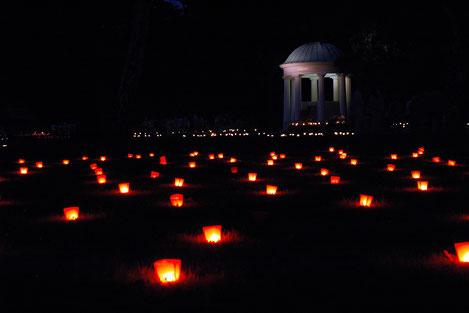 Luipolds-Sprudel im Schein der 10.000 Kerzen © Staatsbad Salzuflen GmbH