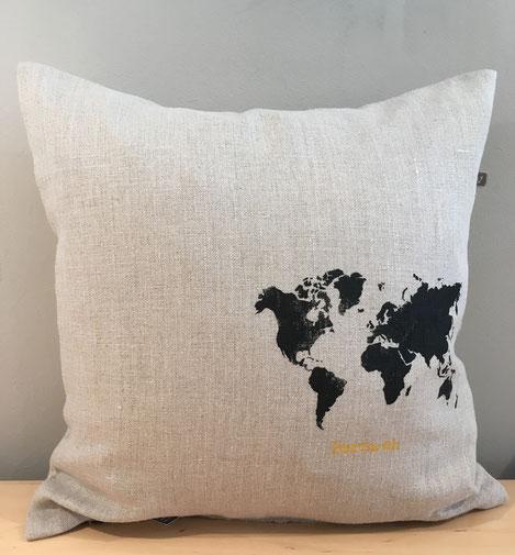 Kissen Weltkarte