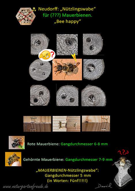 Insektenhotel Insektennisthilfen Nisthilfen insect hotel nesting aid bug house Neudorff Nützlingswabe Mauerbienen Wildbienen mason bees  Wildbienen wild bee