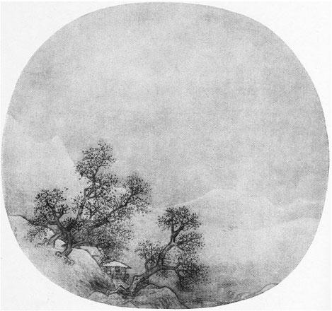 Hsia Kouei. Paysage d'hiver. Ernst Grosse (1862-1927) : Le lavis en Extrême-Orient