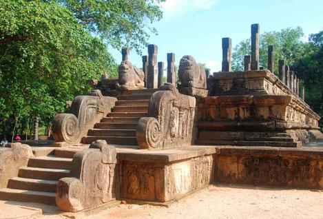 Koningsstad Polonnaruwa in Sri Lanka