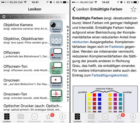 Blick in die App