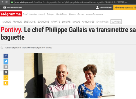 Über den Ruhestand des beliebten Musikers berichtet auch die lokale Presse. Foto: Le Télégramme