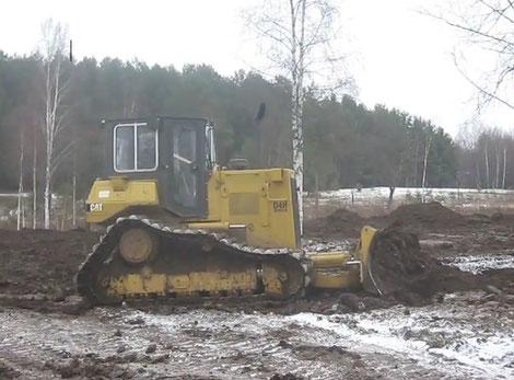 аренда трактора для выравнивания участка в спб и области