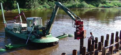 устройство пирсов Watermaster