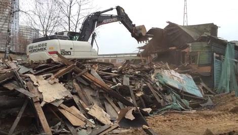 демонтаж деревянного дома в спб