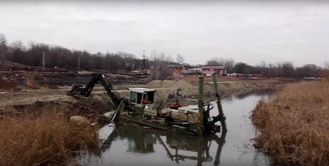 очискта реки механизированная