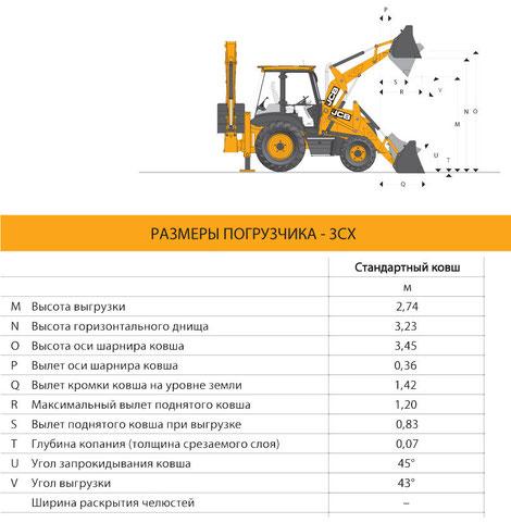 JCB 3CX технические характеристики