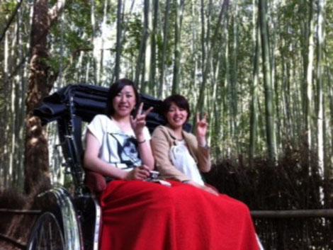(左)高田汐織選手(右)稲井選手