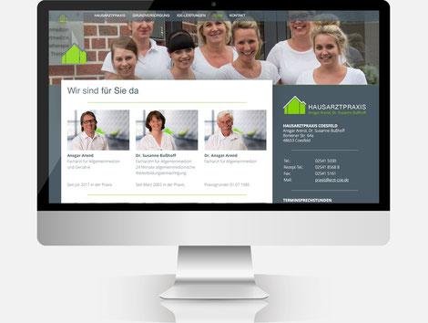 Homepage der Hausarztpraxis Arend, Bußhoff in Coesfeld