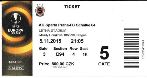 Sparta Prag  05.11.2015