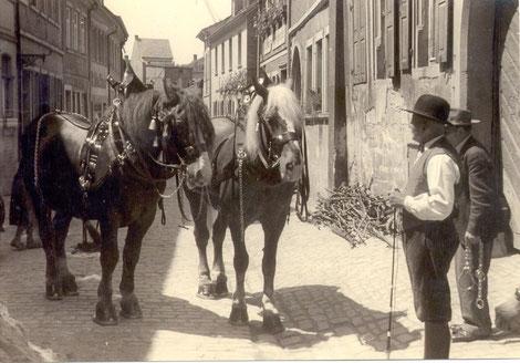 Fuhrunternehmer Paul Brändlein in der Judengasse