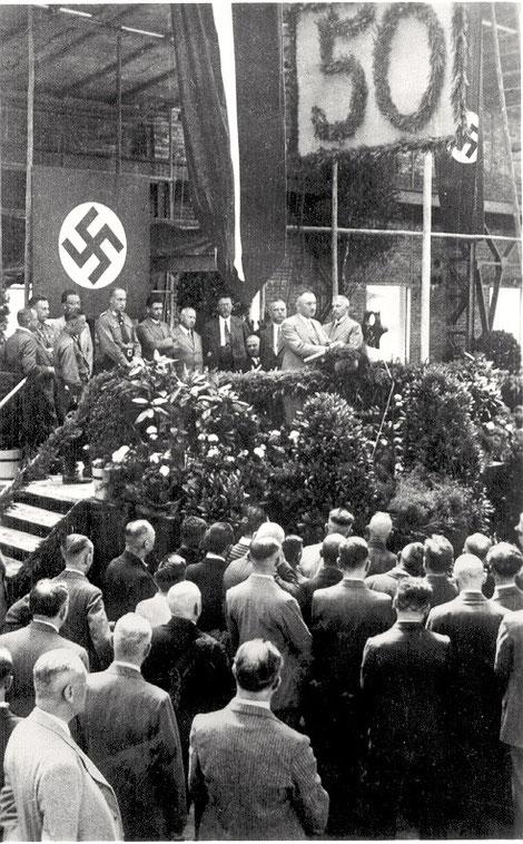 50-jähriges Kugelfischer-Jubiläum, Gedenkstunde am 12. August 1933