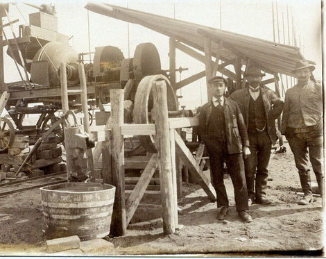 Bei der Firma Gebr. Riedel, Schweinfurt, 1914