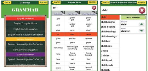 Grammatikübungen, Konjugationen, Deklinationen und Beugungen