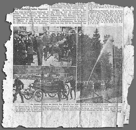 Zeitungsbericht, Erscheinungsdatum unbekannt