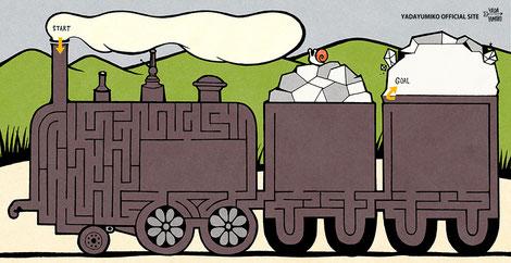 モデルは蒸気車雛形です。噴煙から荷台の鉱石までがゴールです