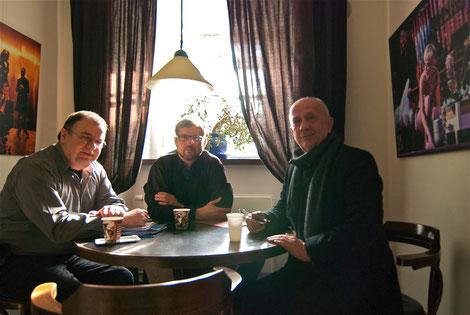Filmvorgesprächv, v.l. Bernd Herrmann, Reiner J. Nagel, Christian Grashof