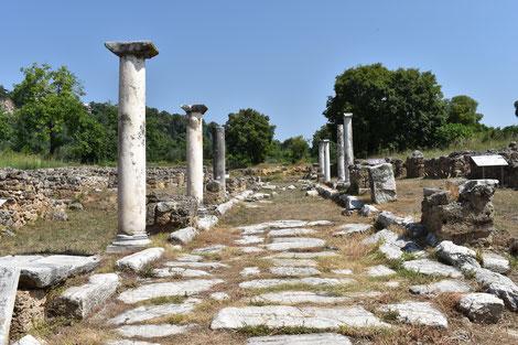 Via Egnatia, römische Handelsstrasse, verband auf dem Balkan den Bosporus mit der Adriaküste