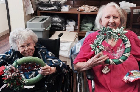 My Dancers and I Made Wreaths for Memory Care Centers