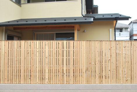 木塀 杉板 自然素材