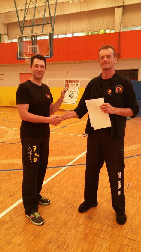 Consegna del Diploma con il M° R. Guidolin