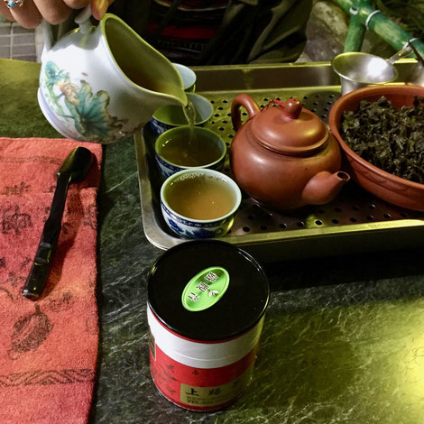 猫空(台北)の茶藝館にて